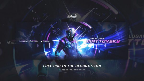 Best Free FORTNITE banner template PSD