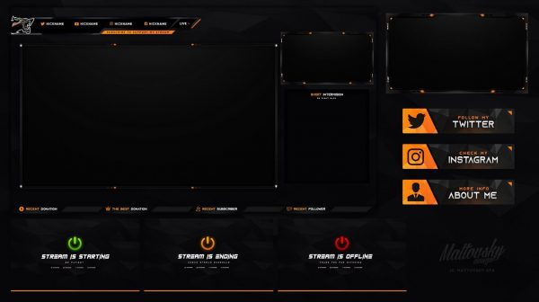 Various Colors Stream Overlay Template