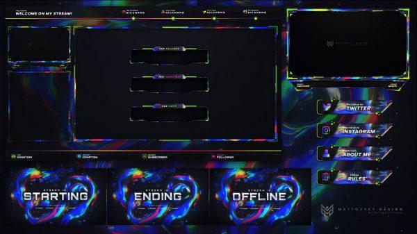Rainbow Best Stream Overlay Template