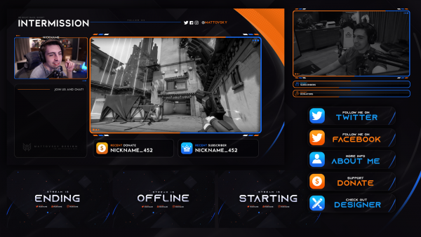 CLEAN FREE STREAM OVERLAY TEMPLATE 2020