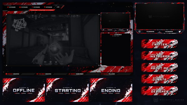 BLOODY BEST FREE STREAM OVERLAY TEMPLATE