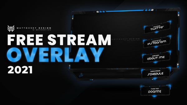 FREE STREAM OVERLAY TEMPLATE 2021 – PSD PACK